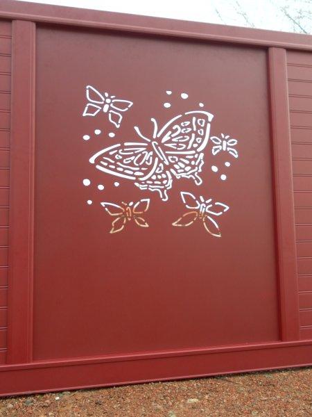 Portail Déco CGA 38 Papillon
